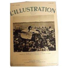 L'IIlustration French Magazine Original  FRONT COVER 1937-  Japanese Aeroplane Kamikaze Arrives in England