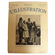 L'IIlustration French Magazine Original  FRONT COVER 1938 - World Record Flight
