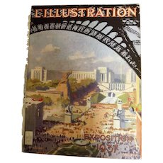 L'IIlustration French Magazine Original  FRONT COVER 1937 - Paris Exposition