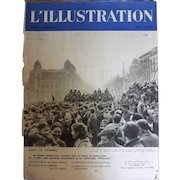 L'IIlustration French Magazine Original  FRONT COVER 1939 Plus 11 Page Special Le Nationalists A  Barcelone