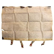 17th Century  English Indenture Vellum Document - Dated 1689  -  King William 111 Period