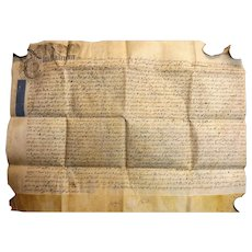 18th Century English Indenture Vellum Document - 1721 - King George 1st