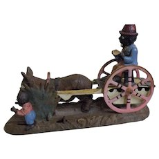 Antique USA Mechanical Penny Bank 'Bad Accident' - Circa 1888