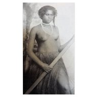 Fijian Fisher Girl - Photograhic Postcard