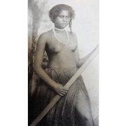 Fijian Fisher Girl - Photograhic Postcard
