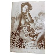 Samoan Native Girl - Muir & Moodie Photographic Cards