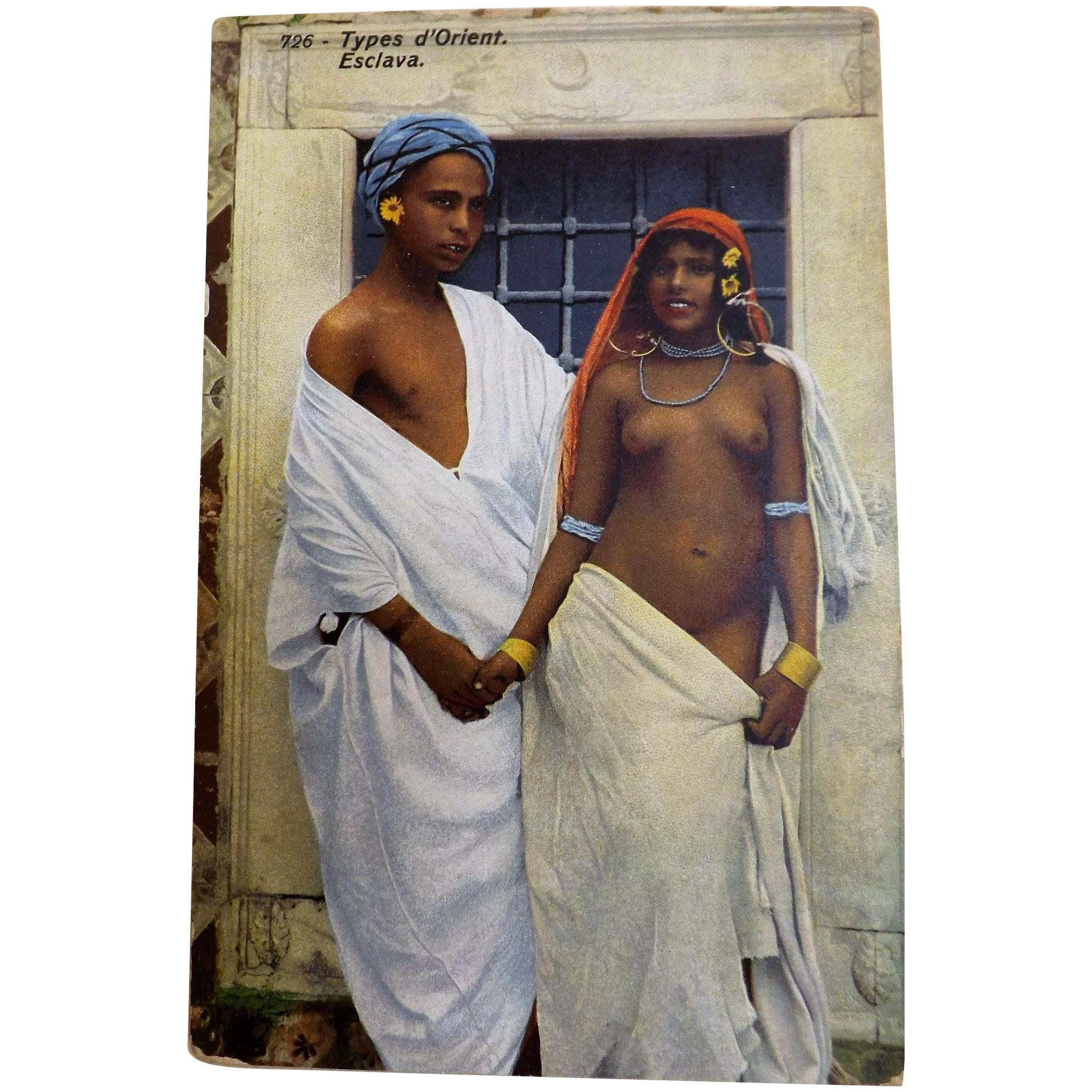 Types d' Orient - Esclava - French Postcard Early 1900's