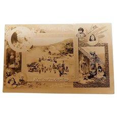 Early New Zealand Maori Card - Circa 1901