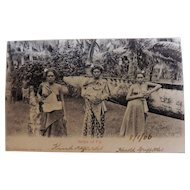 Belles Of Fiji - Photographic Card  Dated 1906