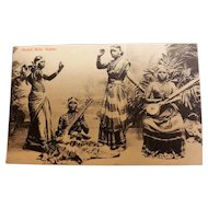 Nautch Dancing Girls  - Ceylon Photographic Card