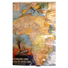 Woermann Line Advertising Poster - Original Shipping Piece Circa 1916