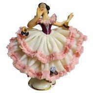ALKA Dresden Porcelain Figurine -Dancing Lady