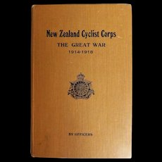 Regimental History Of New Zealand Cyclist Corps In The Great War- 1922 First Edition
