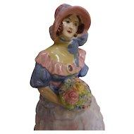 """Miss Prudence"" - Coalport Figurine Circa 1920-1930 Art Deco"