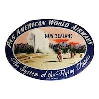 PAN AM Baggage Label - New Zealand Circa 1970