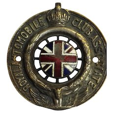 Royal Automobile Club Associate Car Badge