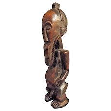 KUSU Tribal Carved Ancestor Figure - Congo Circa Mid to Early 20th Century