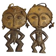 A Pair of ASHANTI Tribe Akuaba Fertility Dolls
