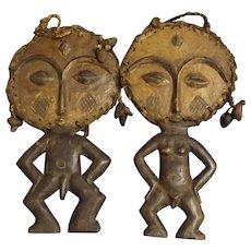A Pair of ASHANTI Tribe Akuaba Fertility Dolls