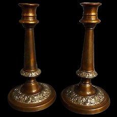 A Pair of Georgian Candle Sticks Circa 1810-1820