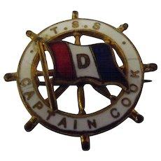 T.S.S. Captain Cook Shipping Line Souvenir Badge