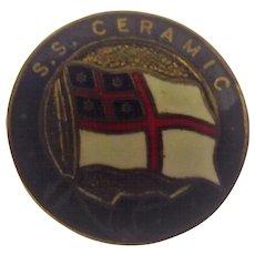 S.S. Ceramic Ships Souvenir Badge