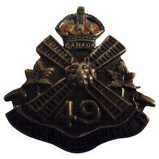 49th Edmonton Regiment Silver Sweethearts Badge /Brooch - WW1