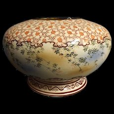 Unusual Pottery Bowl Vase Circa Early 1900's