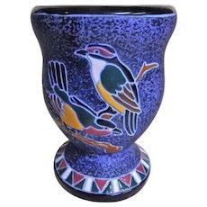 Czechoslovakian Art Deco Amphora Vase -Circa 1925-1930