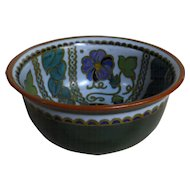 Stunning large Polychrome GOUDA Bowl