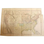 Original Map of The United States - Pre 1845