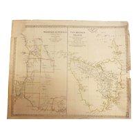 Rare MAP of Western Australia & Van-Dieman Island - By Baldwin & Cradock - London April 1833