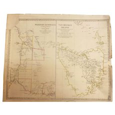 Rare MAP of Western Australia & Van-Dieman Island - By Baldwin & Cradock - London April 1833