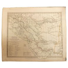 Antique Map of Persia with Part of The Ottoman Empire -Dated 1831- By G.Long.