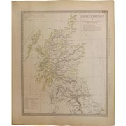 Antique Map of Ancient Britain (2) -Dated 1834