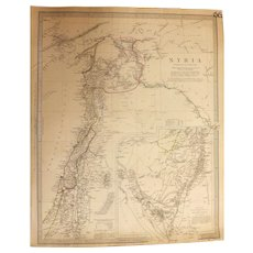 Antique Map of SYRIA By W. Hughes Dated 1842