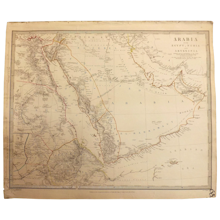 Antique Map of Arabia with Egypt, Nubia and Abyssinia - J & C Walker on map of arabian desert, red sea, persian gulf, horn of africa, map of sinai peninsula, map of israel, map of oman, map of malaysia, map of islamic empire, saudi arabia, map of south africa, arabian sea, map of iran, map of pakistan, map of assyria, map of syria, arab world, map of persia, arabic language, map of judea, sinai peninsula, middle east, map of the arabian peninsula, map of india, map of egypt, map of asia, map of uae, map of east africa, strait of hormuz, iberian peninsula, zagros mountains,