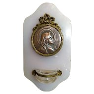 French Holy Water Font  - Marble, Bronze & Copper - Circa 1900 Sylvaine Kinsburger