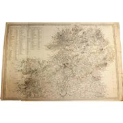 Antique Map of Ireland North - Dated 1838