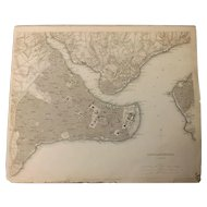 Antique Map of Constantinople  City - Dated 1840