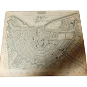 Antique Map of Amsterdam City -Dated 1835