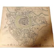 Antique Map of Vienna - Dated 1833