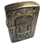 Sterling Silver Cased ZIPPO - Aztec Designs