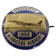 Mangere Airport (Auckland - New Zealand) Official Opening Tin Badge  - 1966
