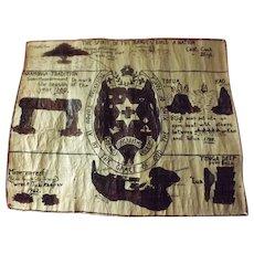 Vintage Tongan Tapa Mat - Circa 1970.