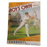 Boys Own Paper Magazine - Great Britain July 1934