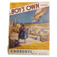 Boys Own Paper Magazine - Great Britain March 1935