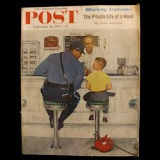 Saturday Evening Post Magazine - Sept. 20 1958  - Norman Rockwell Cover