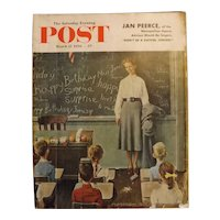 Saturday Evening Post Magazine - March 17 1956  - Norman Rockwell Cover