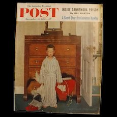 Saturday Evening Post Magazine - Dec. 29 1956  - Norman Rockwell Cover